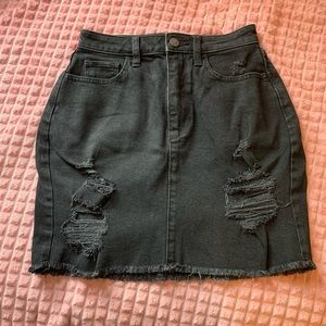 Curvy High-Rise Denim Mini Skirt